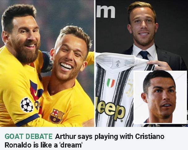 尤文新援:成为C罗队友就像实现梦想 但梅西是历史上最伟大球星