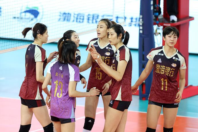 朱婷26分天津女排3-1再胜江苏 卫冕夺联赛第13冠