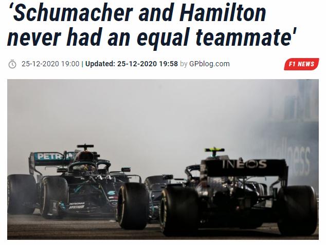 前F1车手喷小汉靠梅奔火箭夺冠:舒马赫也凭好车取胜