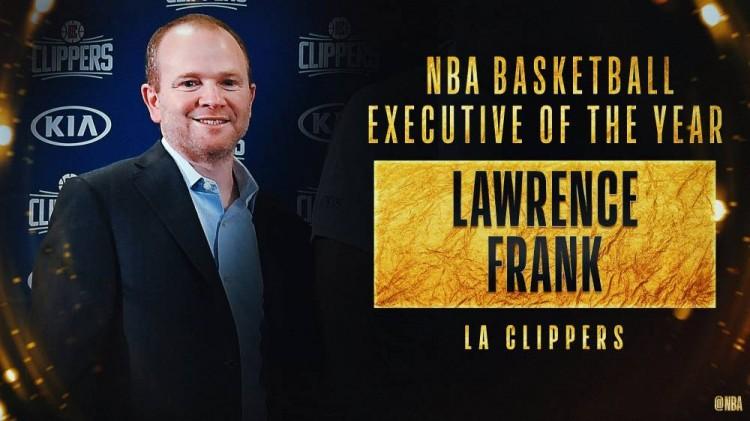 快船篮球运营总裁弗兰克中选年度最佳总司理