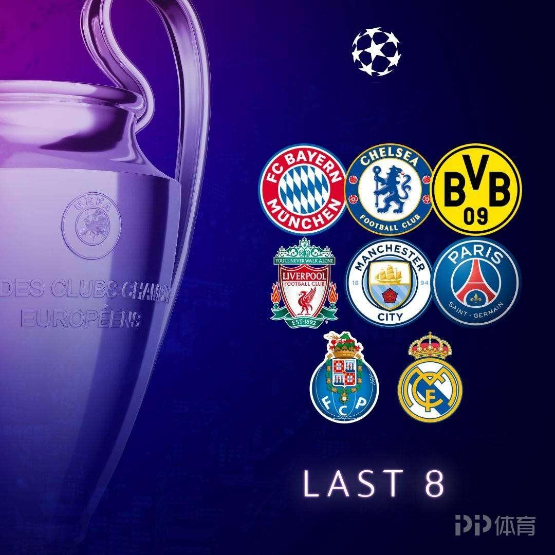 欧冠1/4决赛展望:曼城仍最被看好 上赛季4对决或重演