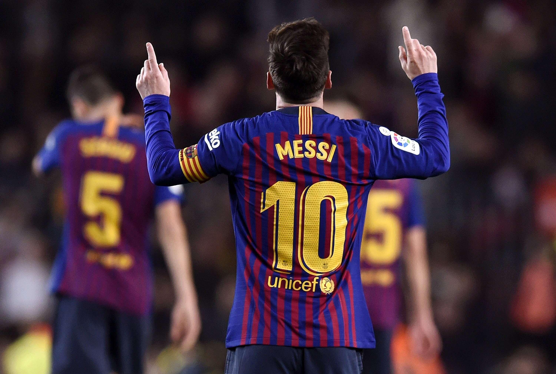 巴萨2-0战胜塞尔塔,继续领跑 ,梅西连场破门再次收获进球.图片
