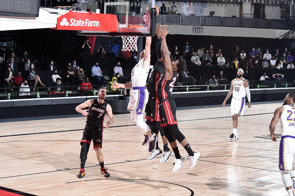 詹皇三双 湖人大胜热火夺得本赛季NBA总冠军!