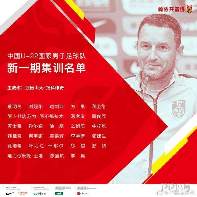 中国U22男足名单公布:蒋圣龙领衔申花6人 泰山队4将入选